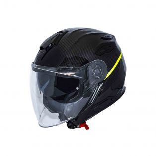 Casco jet X.Viliby Carbon Glossy Gent Neon
