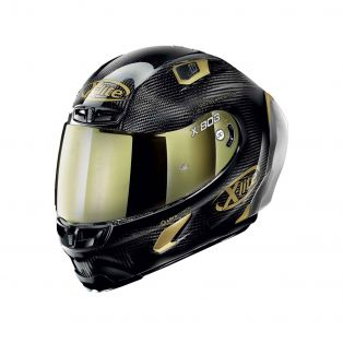 Casco X-803 RS ultra carbon Golden Edition Oro