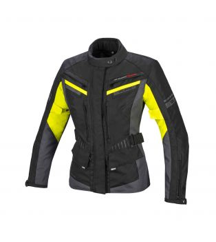 Giacca Touring Path Waterproof Lady Nero/Giallo Fluo/Antracite