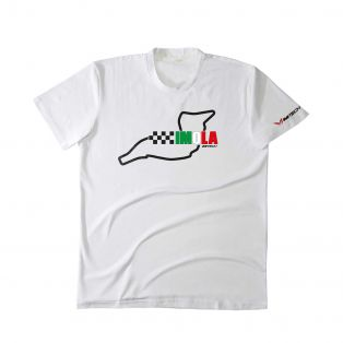 T-Shirt Temples Of Speed Imola Bianco