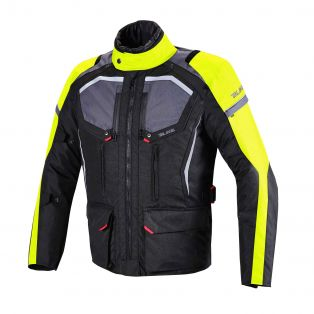 Giacca Touring Wander Waterproof Nero/Antracite/Giallo Fluo