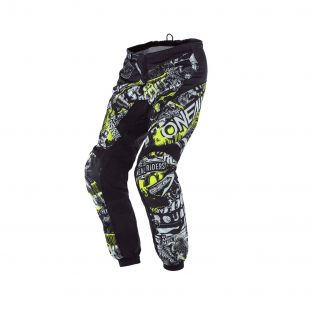 Pantaloni cross Element Attack My21 Kid Nero/Giallo Fluo