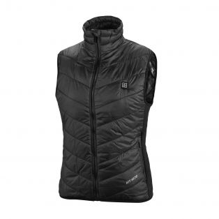 Piumino gilet riscaldabile da donna Thermo Fire Nero